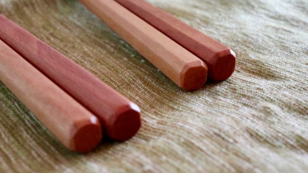 サオ材の八角箸(男性用/女性用)